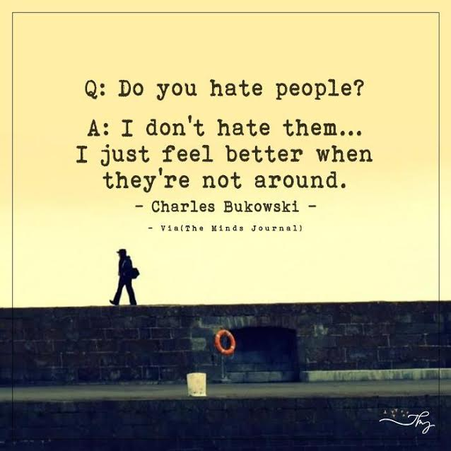 Do you hate people?