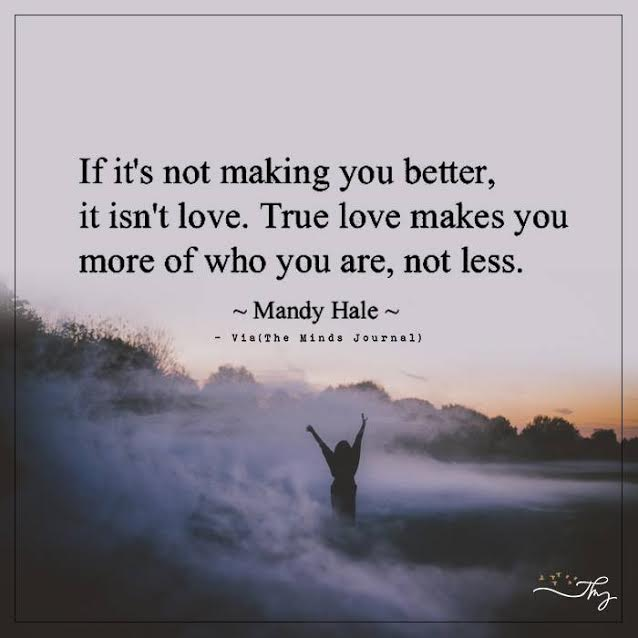 If it's not making you better