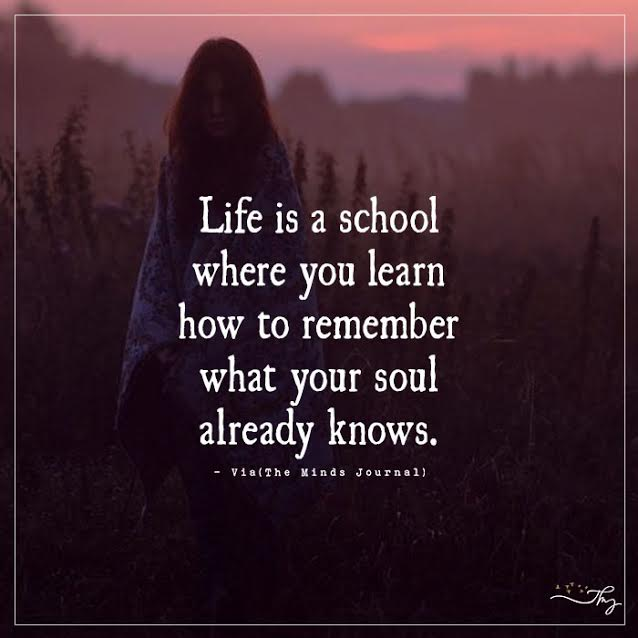 Life is a school