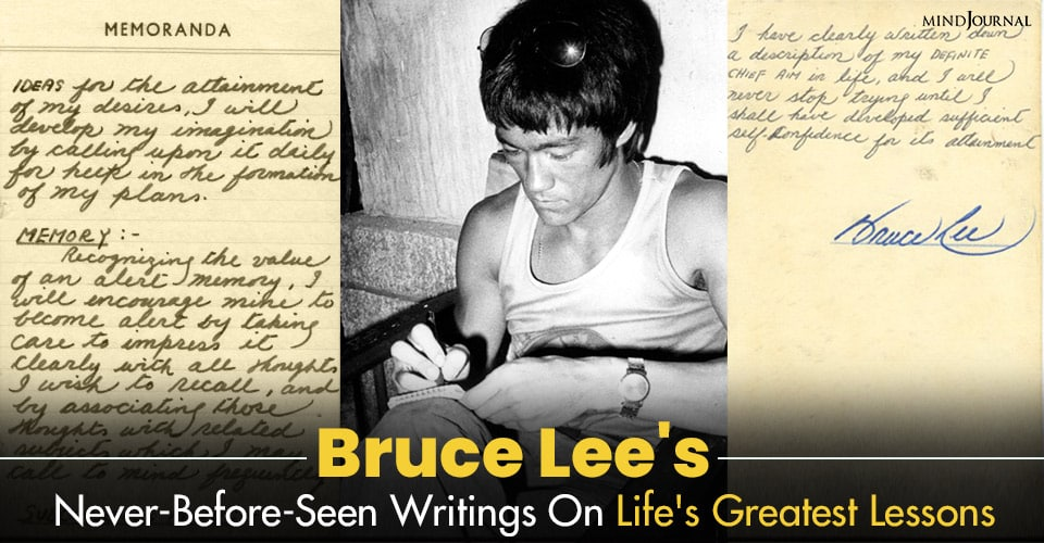 Bruce Lee Writings On Life Lessons