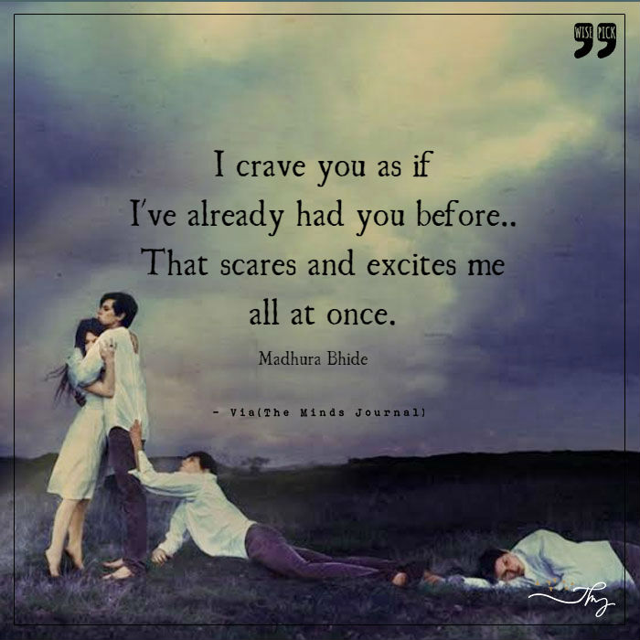I crave for you