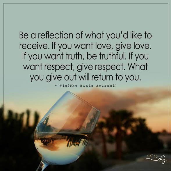 reflection journal on giving and receiving