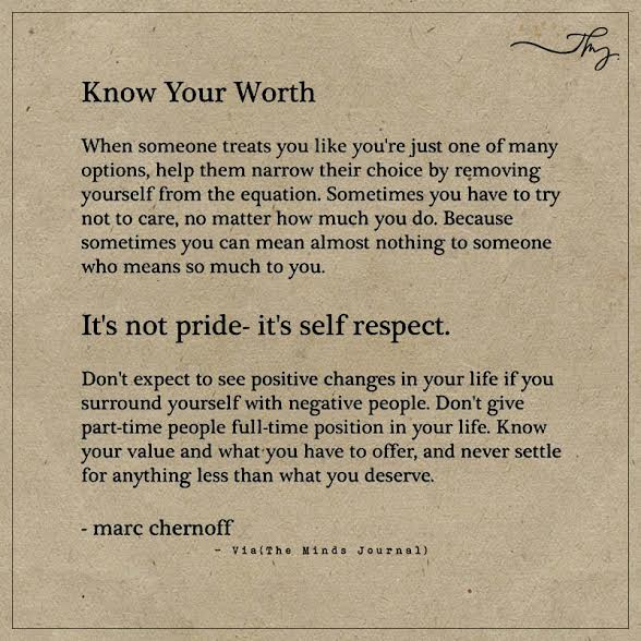 Know Your Worth The Minds Journal