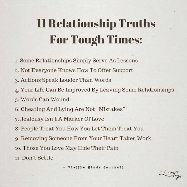 11 Relationship Truths For Tough Times The Minds Journal
