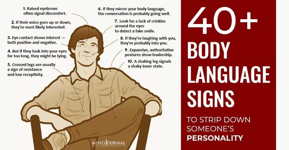 Body Language Signs Strip Down Personality
