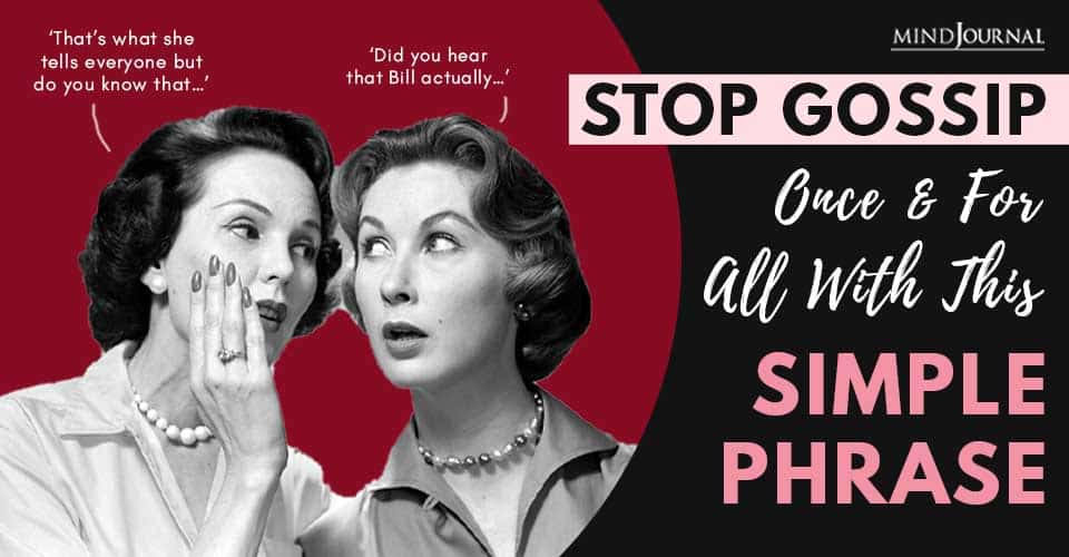 Simple Phrase Stop Gossip For All