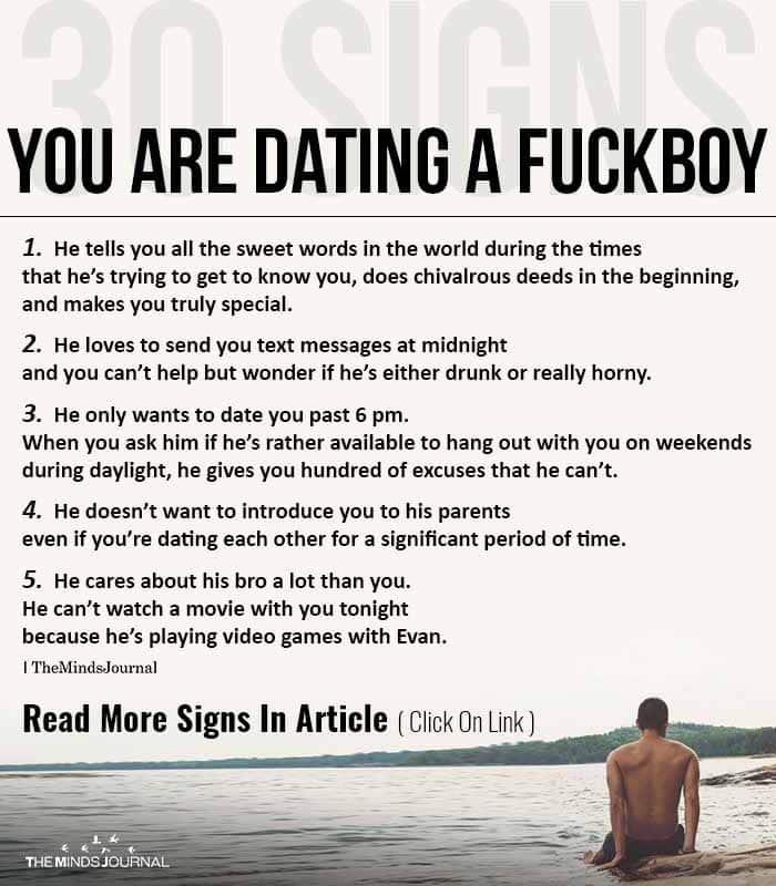 Signs Dating Fuckboy