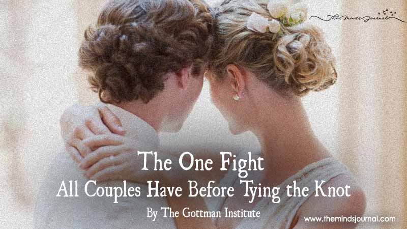 The One Fight All Couples Have Before Tying The Knot