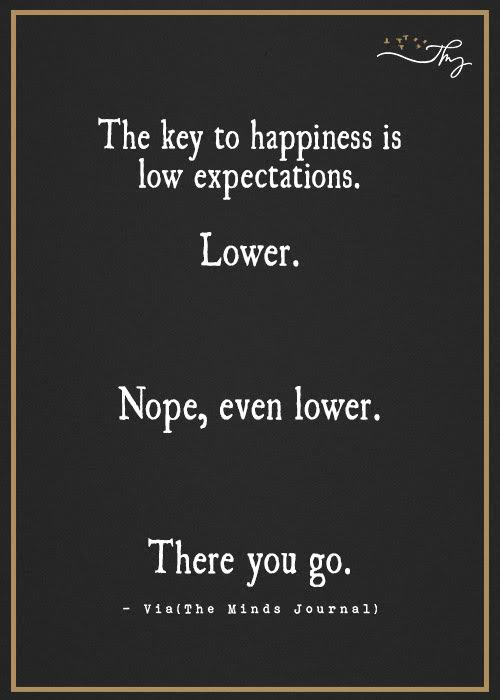 happy people have lower expectations