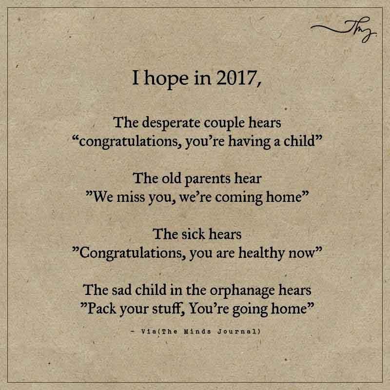I hope in 2017