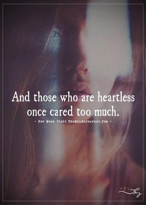 And Those Who are Heartless