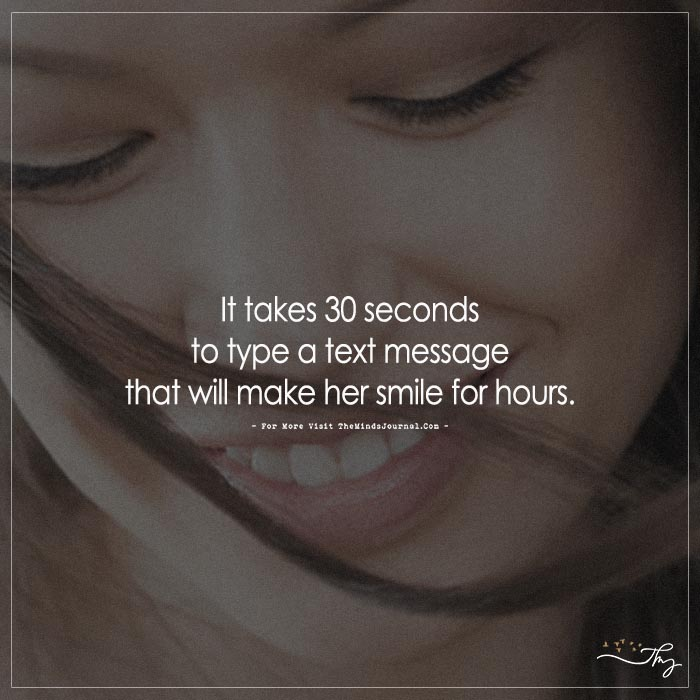 It Takes 30 Seconds