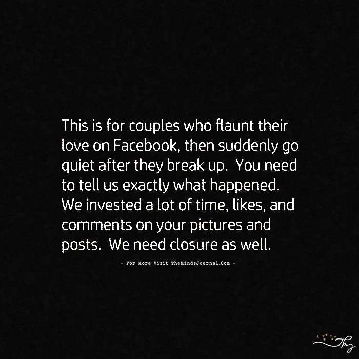 This is for couples who flaunt their love on facebook…