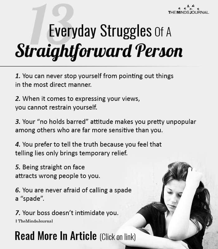 Everyday Struggles Of A Straightforward Person