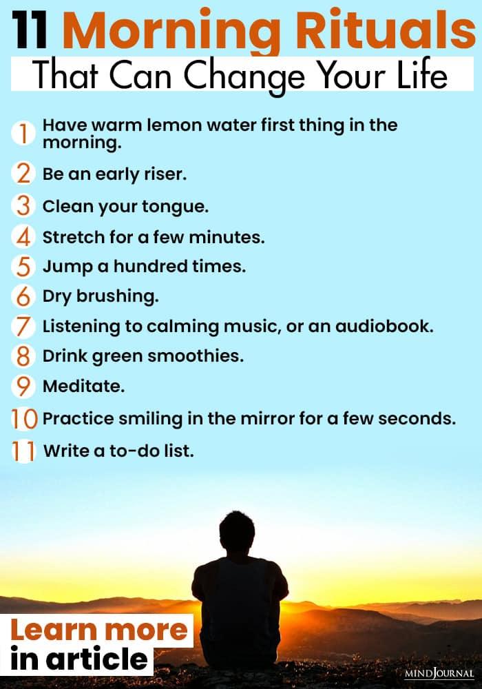 Morning Rituals Change Life infographics
