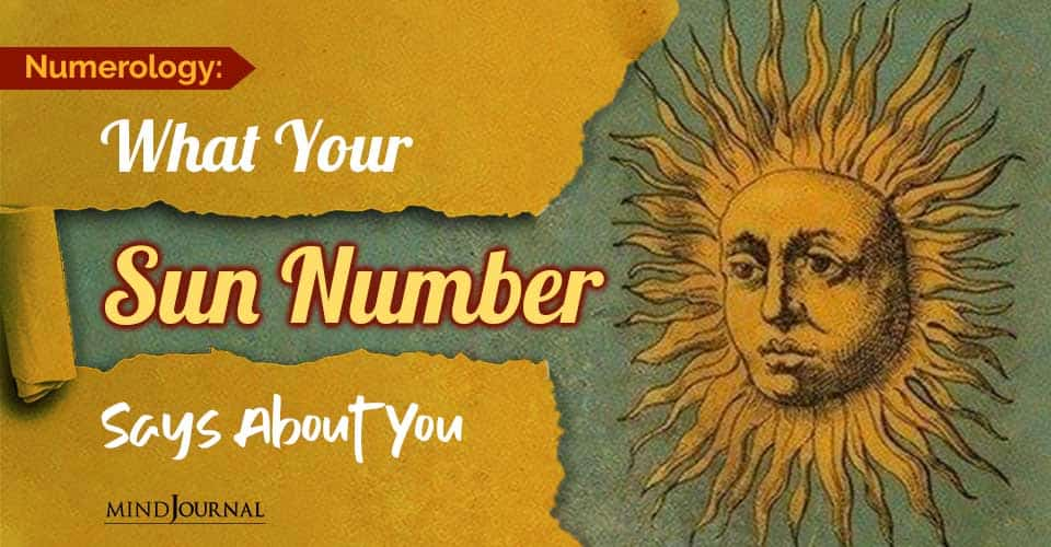 Numerology What Sun Number Says About You