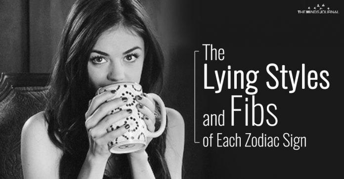 lying styles of each zodiac