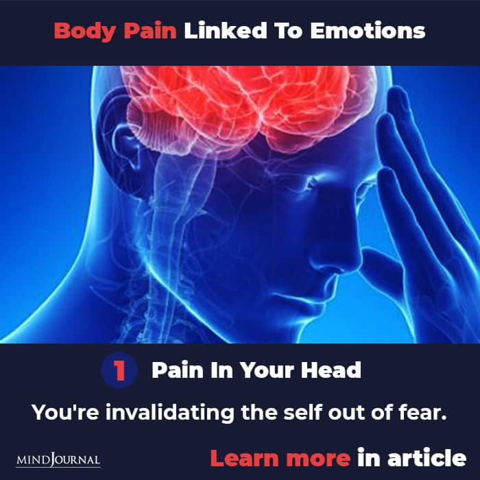 Types Body Pain Linked To Emotions Mental State head