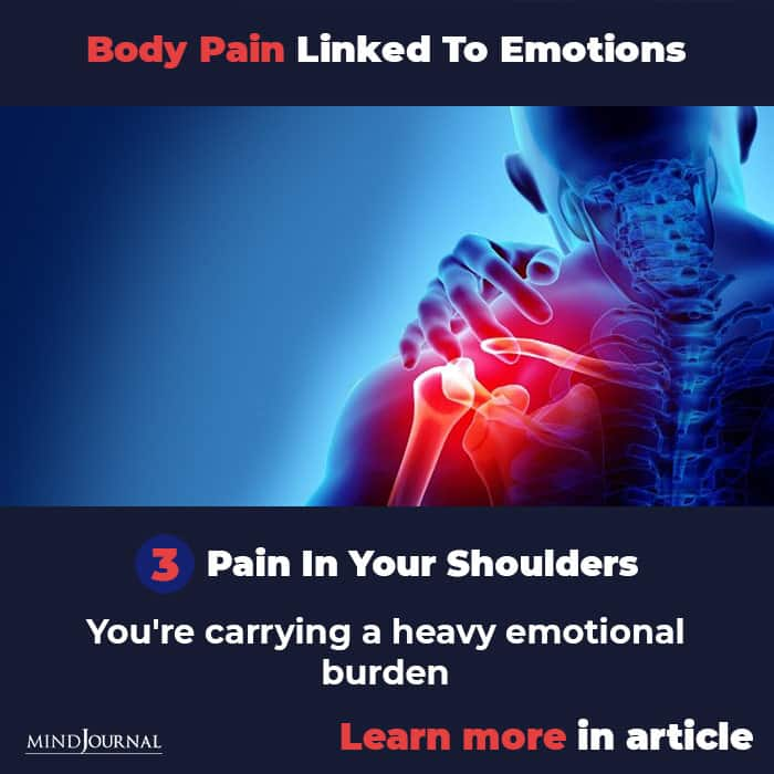 Types Body Pain Linked To Emotions Mental State shoulder