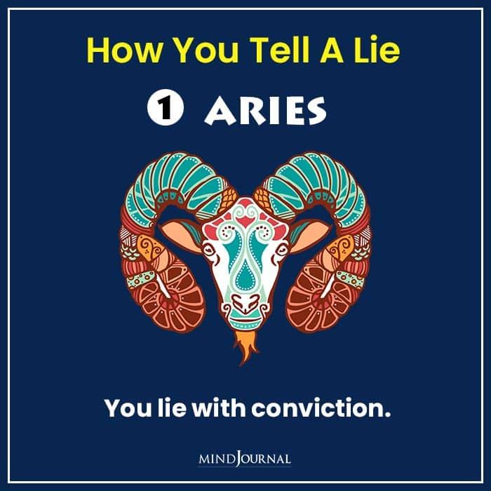 how tell lie zodiac sign aries