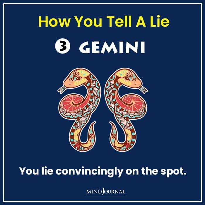 how tell lie zodiac sign gemini