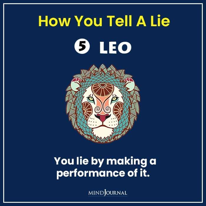 how tell lie zodiac sign leo