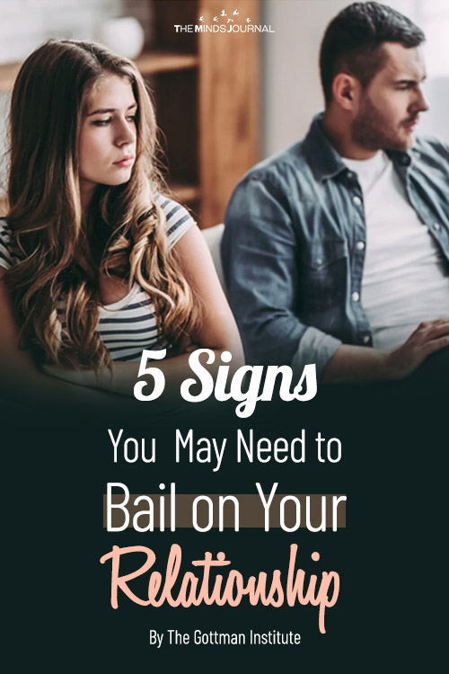 5 Signs You May Need to Bail on Your Relationship pin