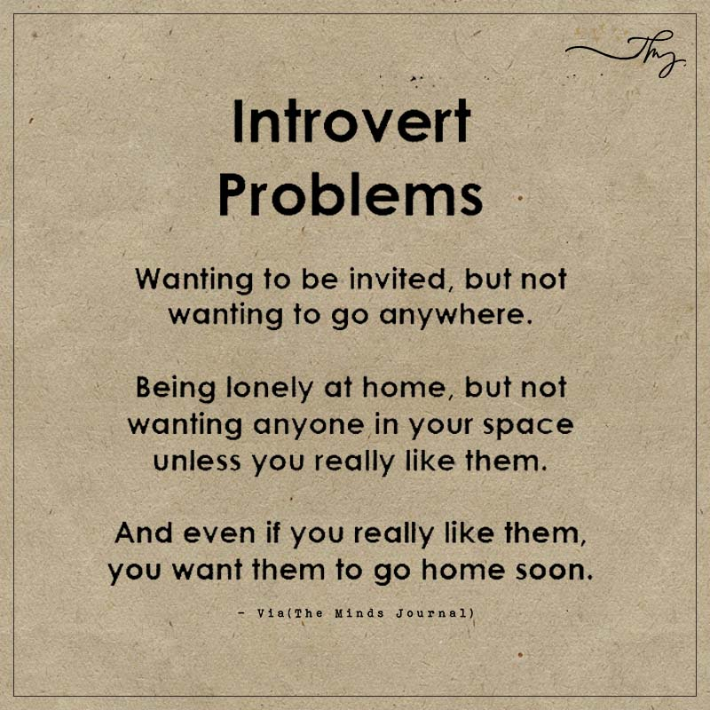 Introvert problems: