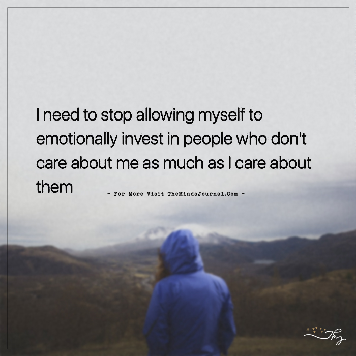 I need to stop allowing myself…