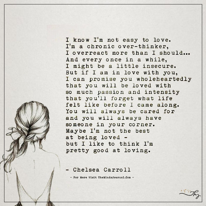 I'm Not Easy to Love