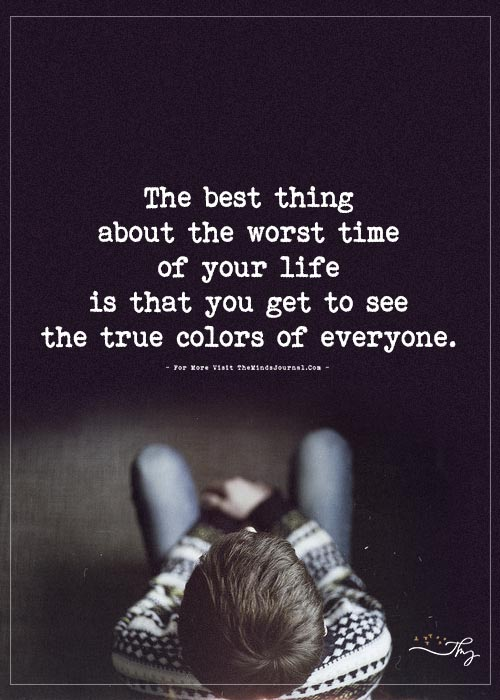 The best thing about the worst time of your life…
