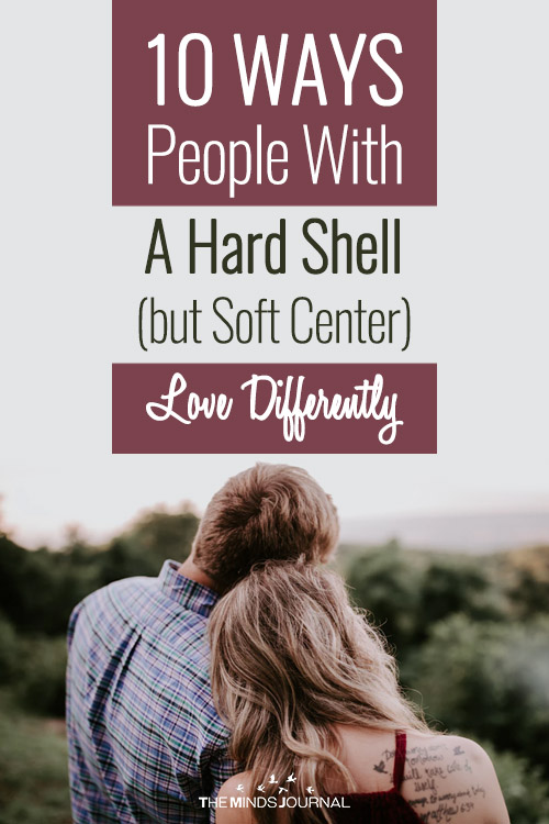 People With A Hard Shell (but Soft Center) pin