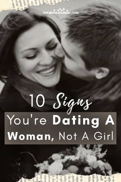 Signs Dating Woman Not Girl Pin
