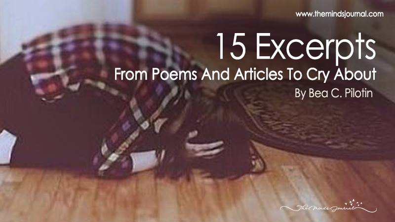 15 Excerpts From Poems And Articles To Cry About