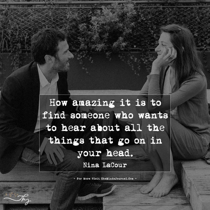 How amazing it is to find someone…