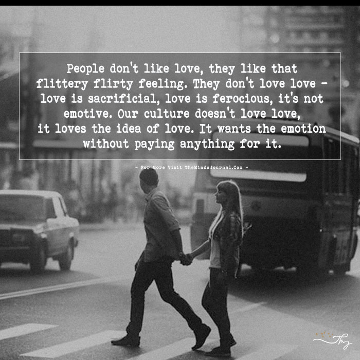 People Don't Like Love