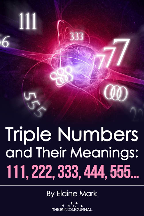 Triple numbers and their meanings