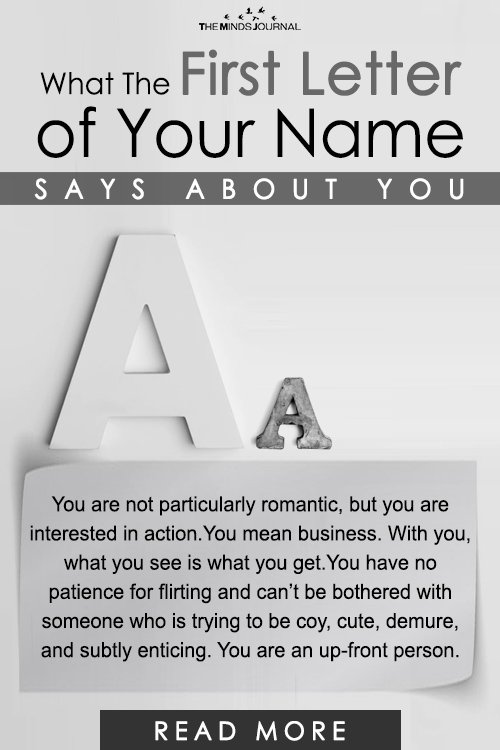 What The First Letter of Your Name Says About You