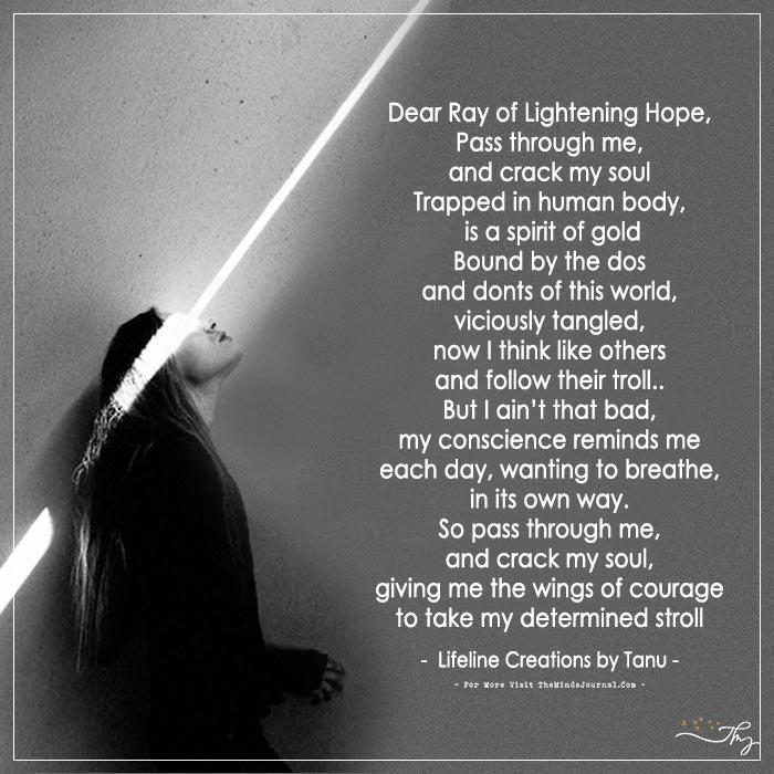 Dear Ray Of Lightening Hope