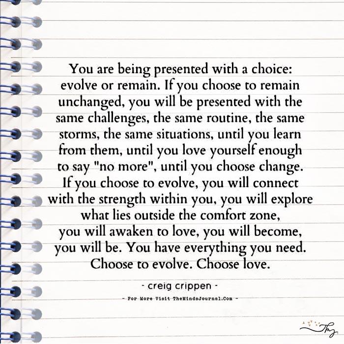 Choose To Evolve