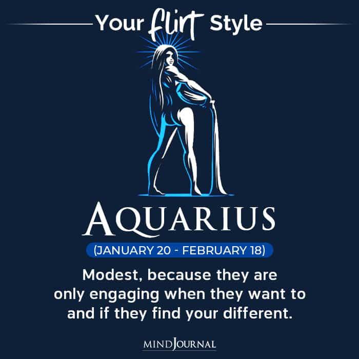 Flirt Style Each Zodiac Sign aquarius