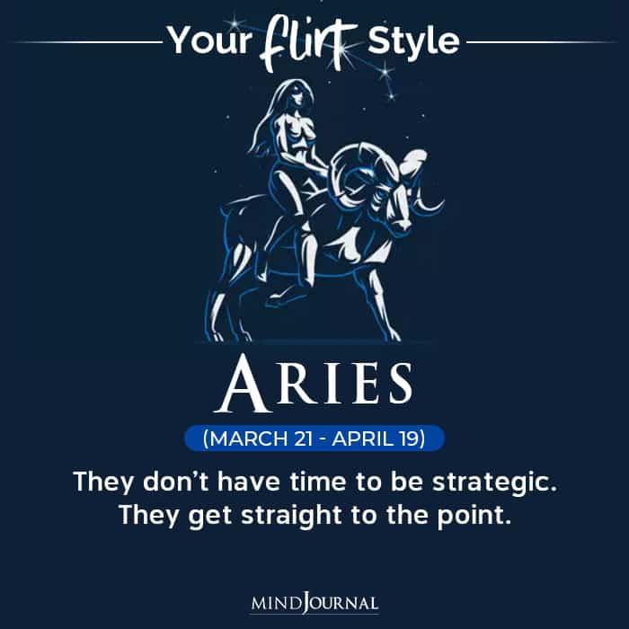 Flirt Style Each Zodiac Sign aries
