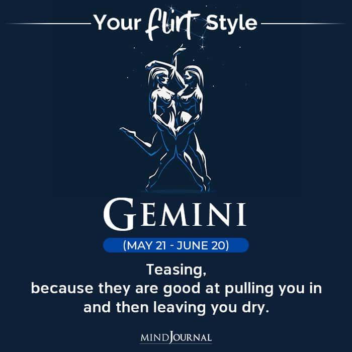 Flirt Style Each Zodiac Sign gemini