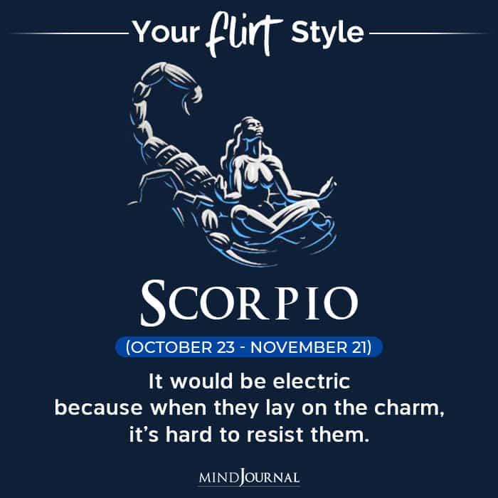 Flirt Style Each Zodiac Sign scorpio