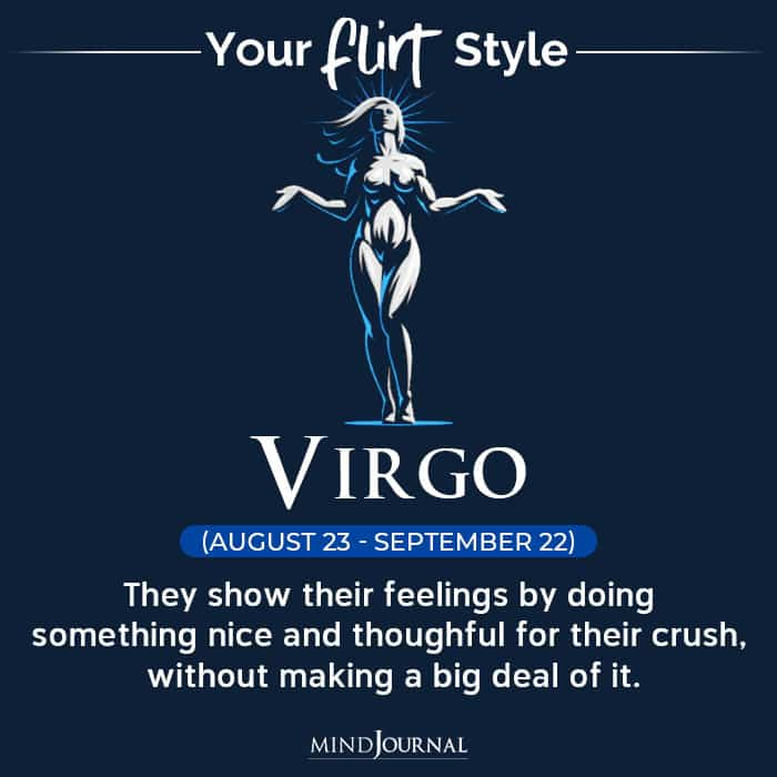 Flirt Style Each Zodiac Sign virgo