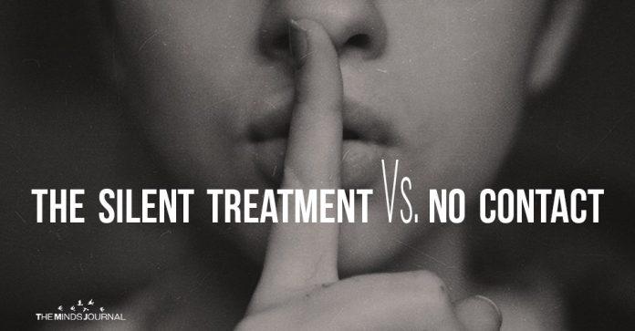 The Silent Treatment Vs No Contact