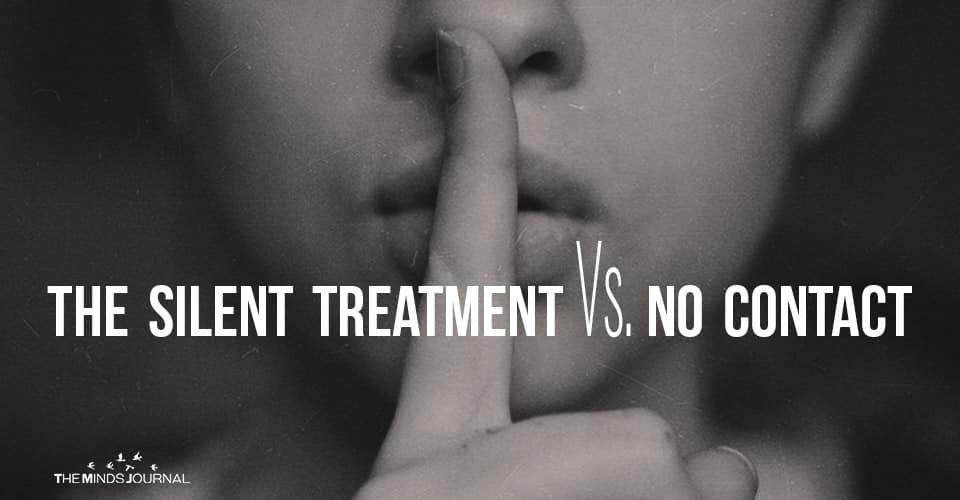 The Silent Treatment Vs. No Contact: What's The Difference?