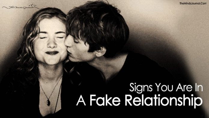 6 Signs You Are in A Fake Relationship