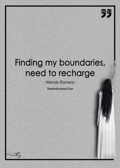 Me And Only Me Is The Edge Of My Boundary