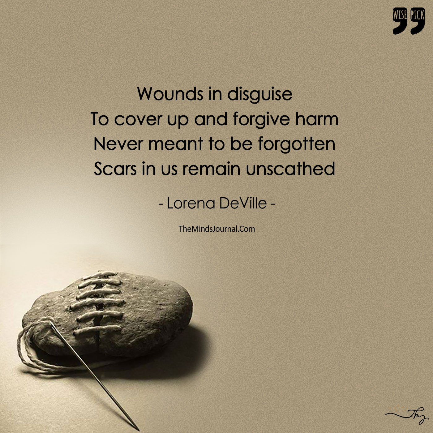 Wounds in Disguise-Scars In Us Remain Unscathed, Just A Mended Life!